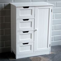 Bathroom Cabinet Single Double Door Wall Mounted Tallboy ...