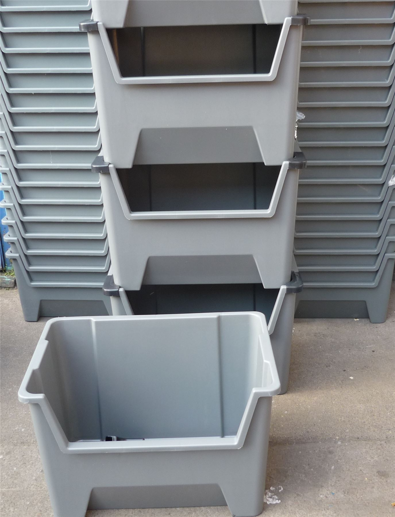 Stackable Storage Bins Large Plastic Storage Bins Boxes Stackable Space Bin