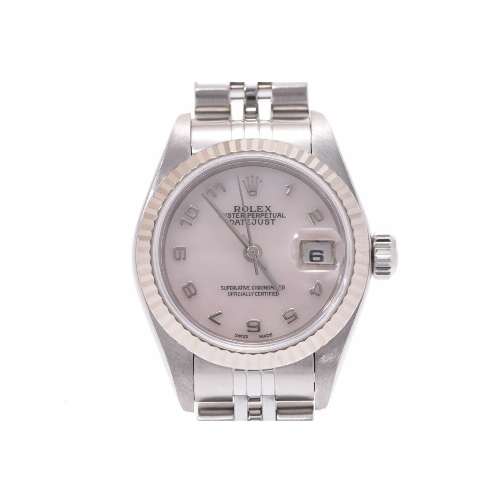 Rolex Second Hand Rolex Datejust Shell Dial 79174na K Number L Womens Wg Ss