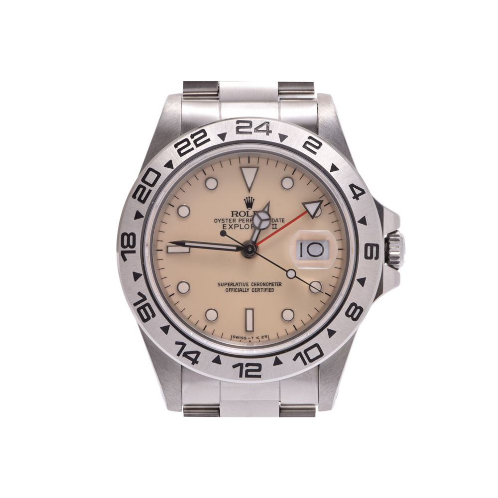 Rolex Second Hand Rolex Explorer 2 Ivory Dial 16550 Center Split Needle Exchange