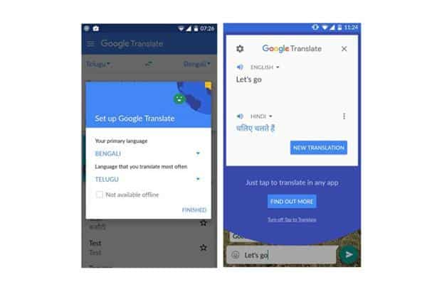 Google adds Tap on Translate layer to any Android app