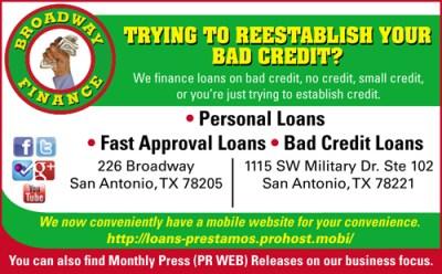Credit Helpers San Antonio, TX | Poor Credit Personal Loans | Fast Approval Loans