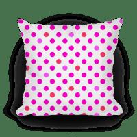 Small Polka Dot Pillow (pink) - Throw Pillow - HUMAN