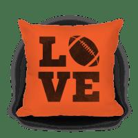 Love Football Pillow - Pillows - HUMAN