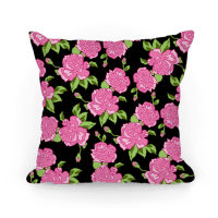 Floral Hipster Pattern Throw Pillow | LookHUMAN