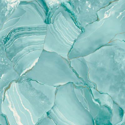Shop allen + roth Turquoise Peelable Vinyl Prepasted Wallpaper at Lowes.com