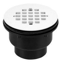 Shop Oatey Fits Pipe Size 2-in Dia Black ABS Shower Drain ...