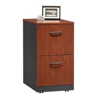 Shop Sauder Via Classic Cherry/Soft Black 2-Drawer File ...