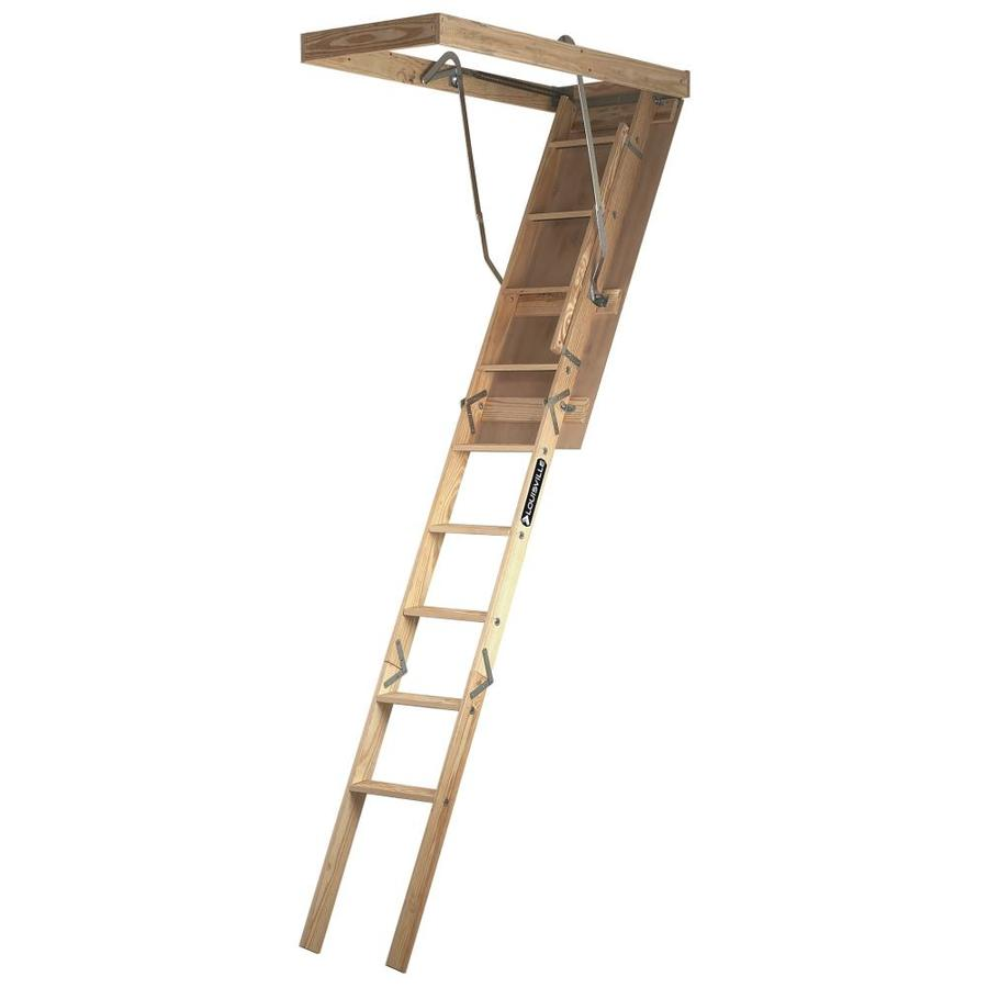 Shop Louisville 8 Ft Wood 250 Lb Type I Attic Ladder At