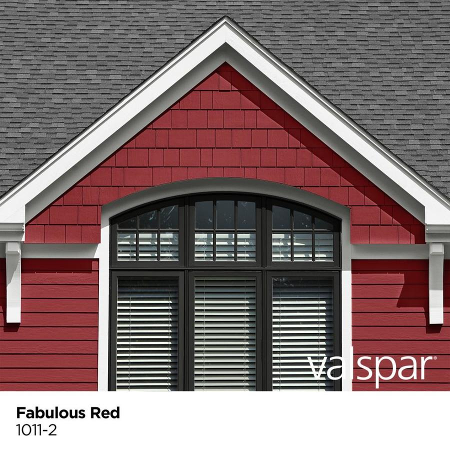 Valspar Seasonplus Satin Fabulous Red 1011 2 Exterior Paint 1 Quart In The Exterior Paint Department At Lowes Com