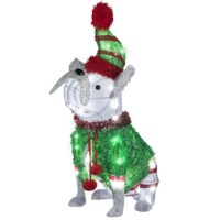 Shop Gemmy Lighted Dog Outdoor Christmas Decoration with