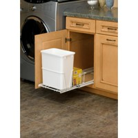 Shop Rev-A-Shelf 20-Quart Plastic Pull Out Trash Can at ...