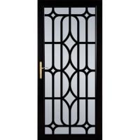 Shop LARSON Citadel Nickel Black Aluminum Security Door ...