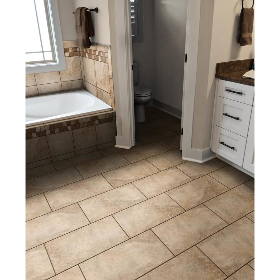 Style Selections Mesa Beige 12 In X 24 In Matte Porcelain Floor Tile In The Tile Department At Lowes Com