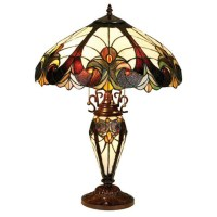 Shop Chloe Lighting 25-in Tiffany-Style Indoor Table Lamp ...
