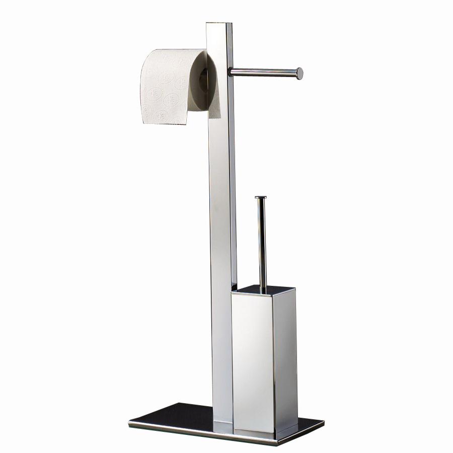 Shop Nameeks Gedy Chrome Freestanding Floor Toilet Paper
