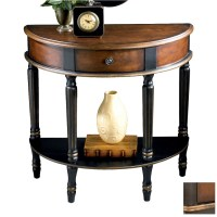 Pin Console-tables-round-accent-end-table-in-cherry ...