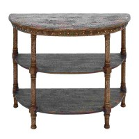 Shop Woodland Imports Half-Round Console and Sofa Table at ...