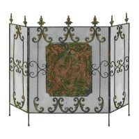 Shop Woodland Imports Brass Metal Fireplace Screen at ...