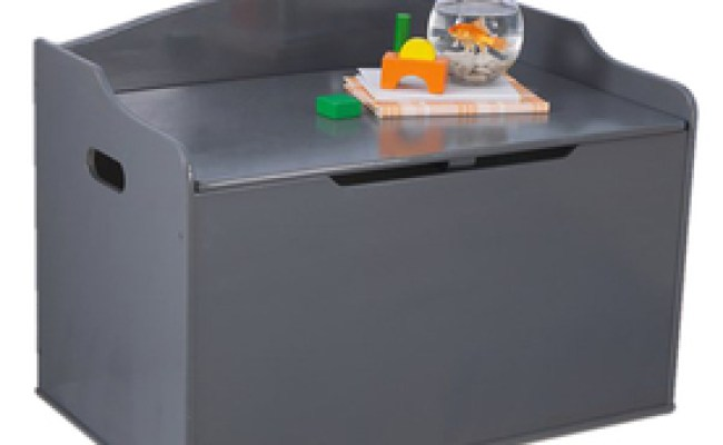 Shop Kidkraft Personalized Austin Gray Rectangular Toy Box