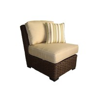 Shop allen + roth Blaney Textured Black Wicker Cushioned ...