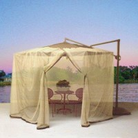 Patio Umbrella With Mosquito Netting. Shop Shade Trends ...