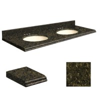 Shop Transolid Uba Verde Granite Undermount Double Sink ...