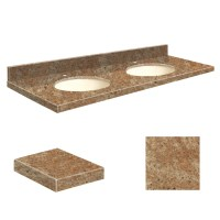 Shop Transolid India Gold Granite Undermount Double Sink ...