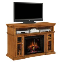 Shop 60-in W 5,200-BTU Oak Wood Infrared Quartz Electric ...