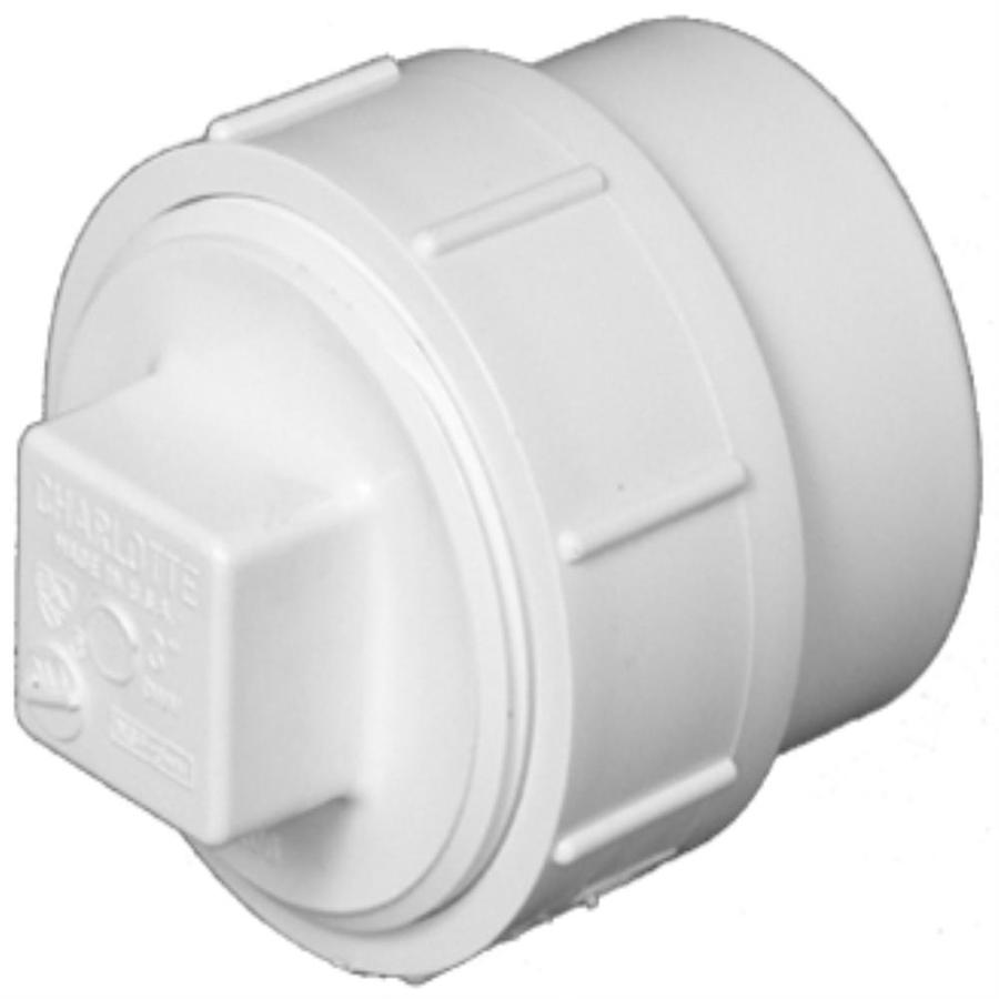 Shop Charlotte Pipe 6 In Dia Pvc Cleanout Adapter Fitting