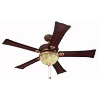 Shop Harbor Breeze 52-in Fairfax Torino Gold Ceiling Fan ...