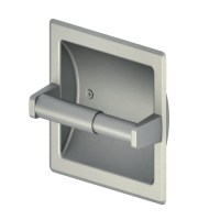 Shop Style Selections Seton Brushed Nickel Recessed Toilet ...