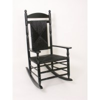 Shop Hinkle Chair Company Black Outdoor Rocking Chair at ...