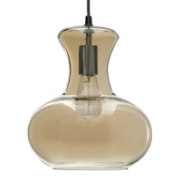 Shop allen + roth 10.31-in W Aged Bronze Pendant Light ...