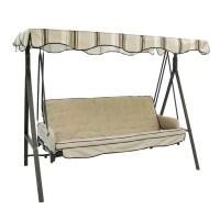 Shop Garden Treasures 3-Seat Steel Traditional Porch Swing ...
