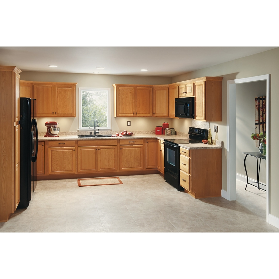 Diamond Now Portland 9 In W X 30 In H X 12 In D Wheat Door Wall Stock Cabinet In The Stock Kitchen Cabinets Department At Lowes Com