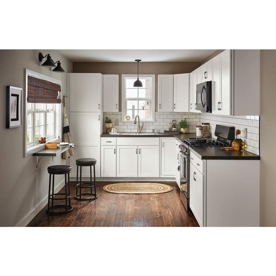 Diamond Now Arcadia 33 In W X 35 In H X 23 75 In D White Sink Base Stock Cabinet In The Stock Kitchen Cabinets Department At Lowes Com