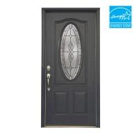 "Shop ReliaBilt 36"" Hampton Steel Entry Door Unit at Lowes.com"