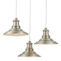 Shop allen + roth Hainsbrook 18.3-in Antique Pewter Multi ...