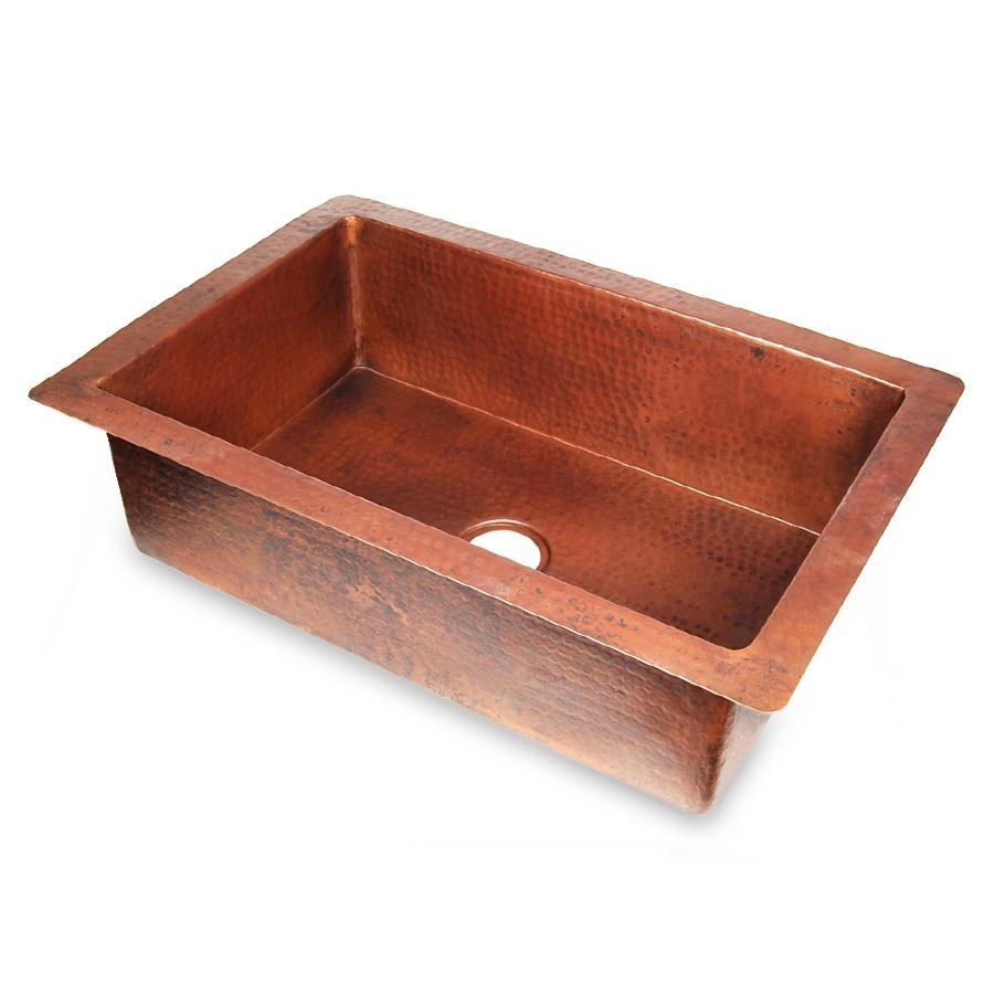 Shop D39vontz Single Basin Undermount Copper Kitchen Sink