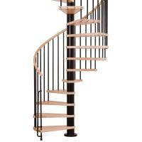 Shop Arke Phoenix 24.5-in x 10-ft Black Spiral Staircase ...