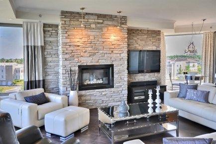 Niş tasarımlı taş duvar kaplama örnekleri · Dekorasyon, Ev
