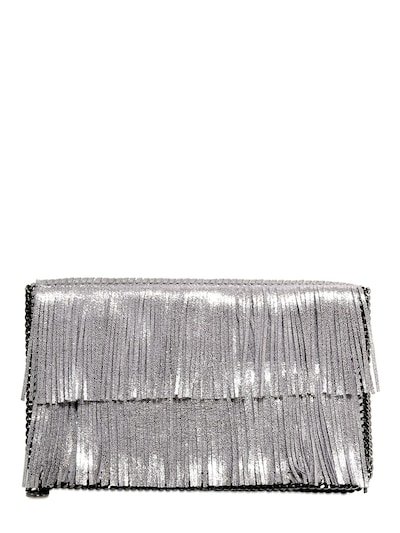 STELLA MCCARTNEY - SHINY DOTTED FRINGED CLUTCH