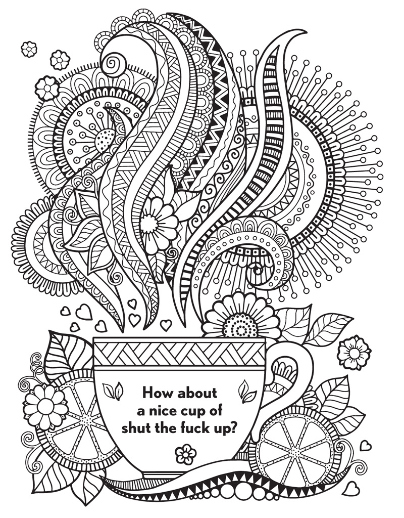 For s sake swear words printable coloring pages