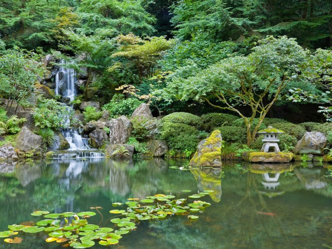 Portland Japanese Garden Oregon Map Facts Location Hours