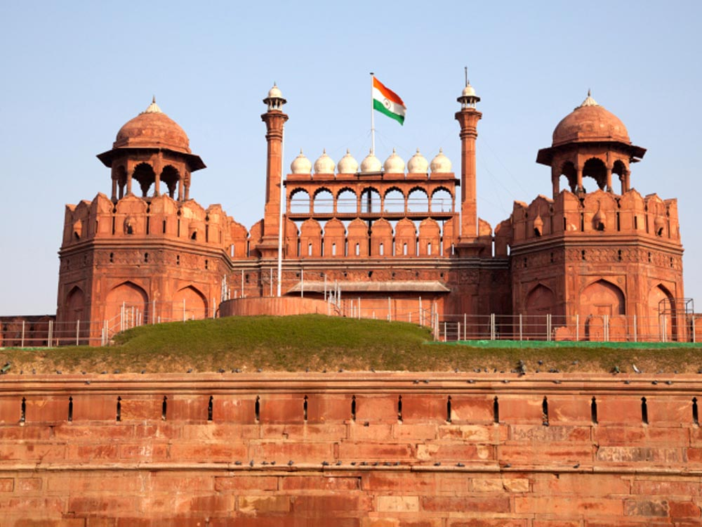 Indian Flag Full Hd Wallpaper Red Fort Delhi India Map Facts Location History