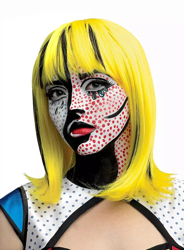 Superhelden Kostüm Frauen Pop Art Blondine Perücke - Maskworld.com