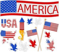 America Static Cling Window Decals Removable and Reusable ...