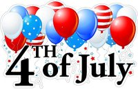 Fourth of July Static Cling Window Decals Removable and ...