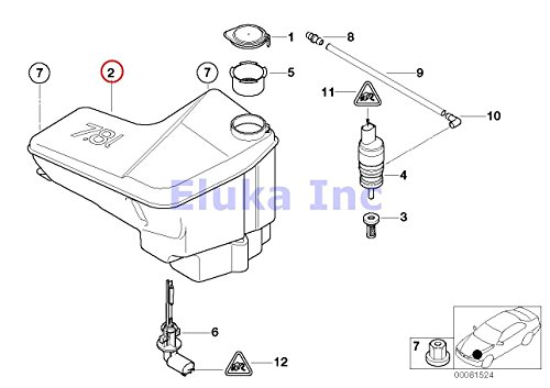 bmw x5 headlight washer cover